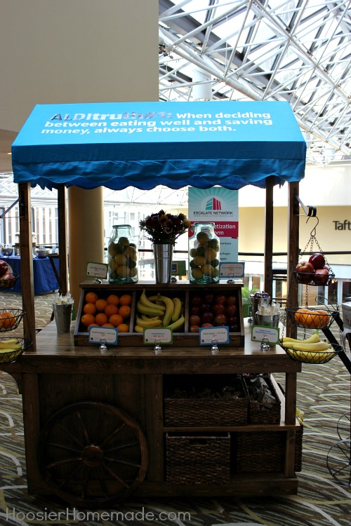 ALDI Snack Cart at Savvy Blogging
