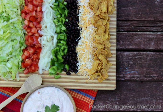 Seven Layer Southwestern Salad :: Recipe on PocketChangeGourmet.com