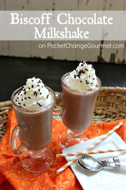 Biscoff Chocolate Shake :: Recipe on PocketChangeGourmet.com