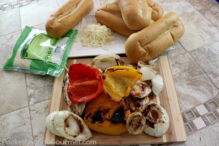 Grilled Chicken Philly Sandwich :: Recipe on PocketChangeGourmet.com
