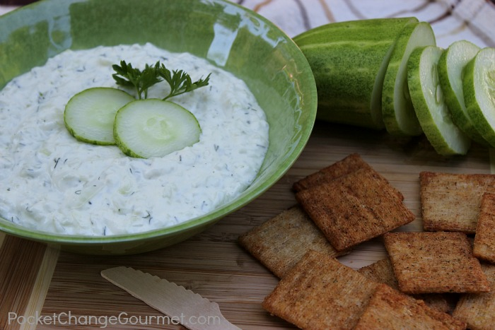 Refreshing Cucumber Dip :: Recipe from PocketChangeGourmet.com