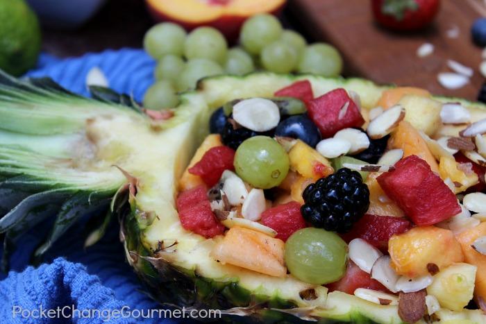 Honey Lime Fruit Salad :: Recipe on PocketChangeGourmet.com