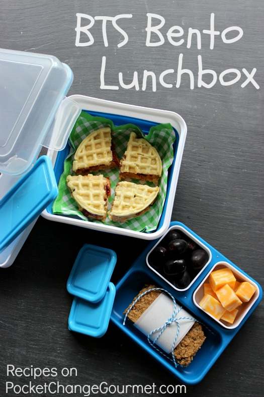 BTS Bento Lunchbox :: Recipes on PocketChangeGourmet.com