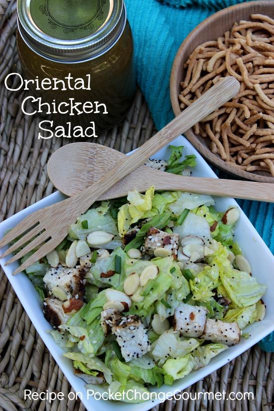 Oriental Chicken Salad   Recipe on PocketChangeGourmet.com