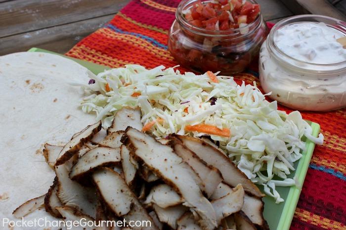 Southwest Chicken Wraps :: Recipe on PocketChangeGourmet.com