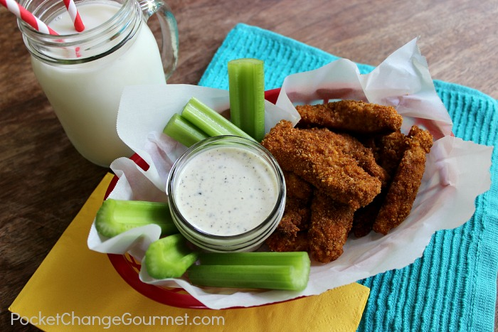Chicken Strips with White BBQ Sauce :: Recipe on PocketChangeGourmet.com
