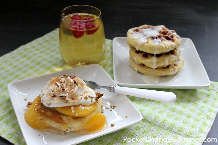 Cinnamon Roll Waffles :: Recipe on PocketChangeGourmet.com