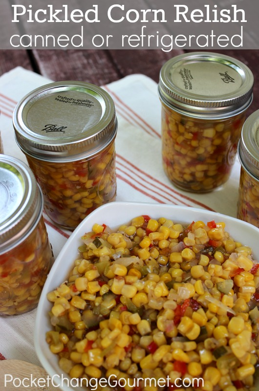 Pickled Corn Relish :: Canned or Refrigerated :: Recipe and Canning Instructions on PocketChangeGourmet.com