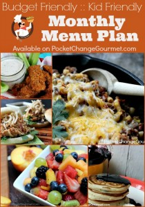 Monthly Menu Plan :: Available on PocketChangeGourmet.com