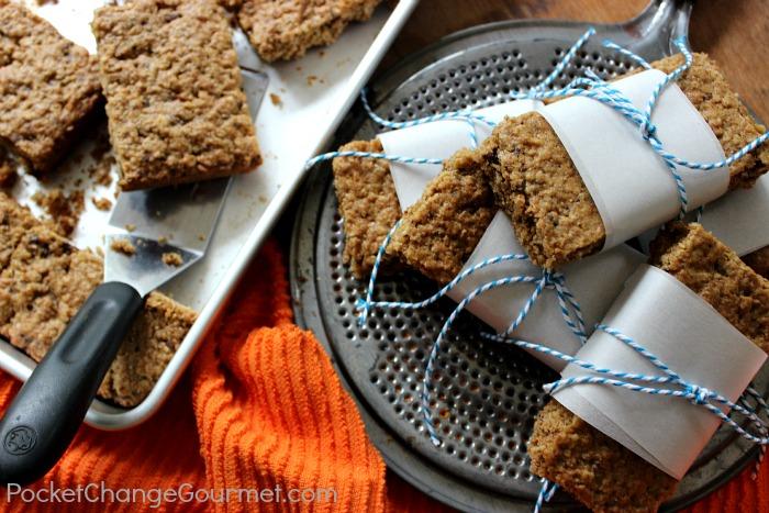 Peanut Butter Granola Bars :: Recipe on PocketChangeGourmet.com