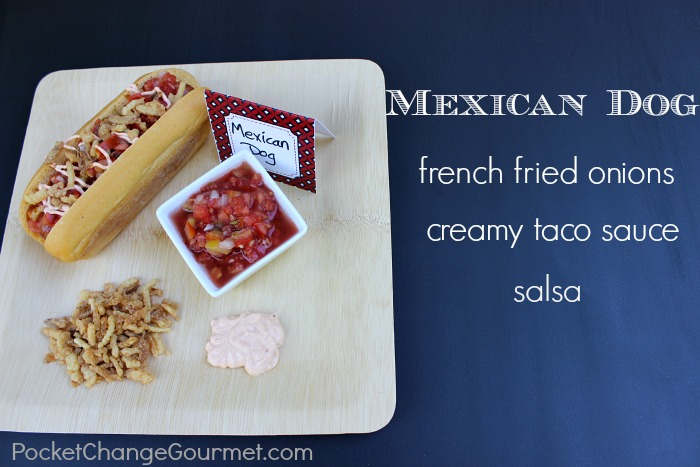 Hot Dog Bar :: Mexican Dog ::PocketChangeGourmet.com