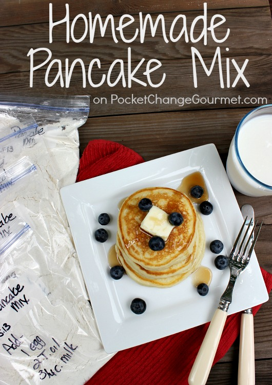 Homemade Pancake Mix :: Recipe on PocketChangeGourmet.com