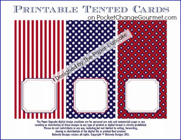 FREE Printable Tented Cards :: on PocketChangeGourmet.com