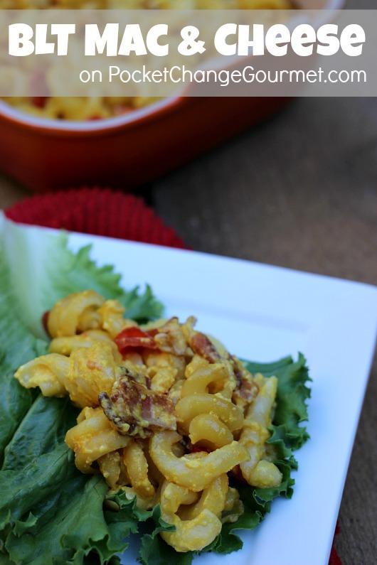BLT Mac & Cheese :: Recipe on PocketChangeGourmet.com