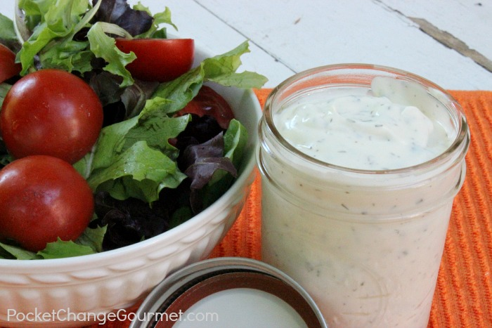 Light & Creamy Homemade Ranch Dressing :: Recipe on PocketChangeGourmet.com