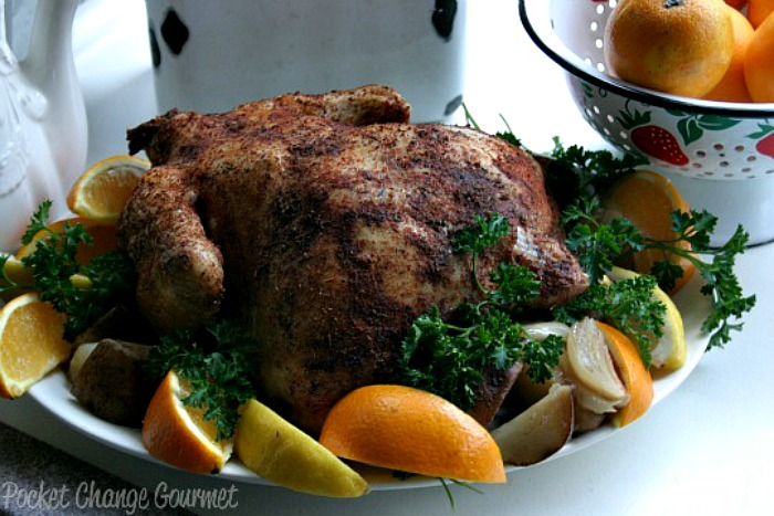 Slow Cooker Rotisserie Chicken :: Recipe on PocketChangeGourmet.com