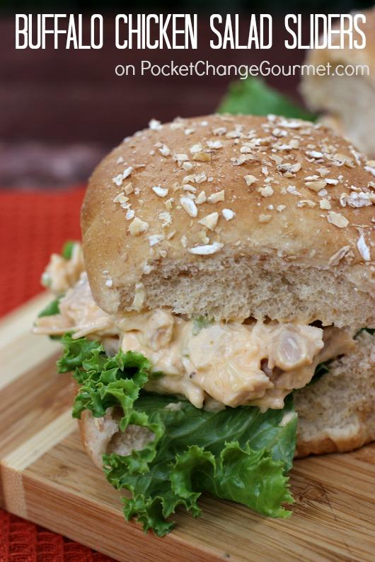 Buffalo Chicken Salad Sliders :: Recipe on PocketChangeGourmet.com