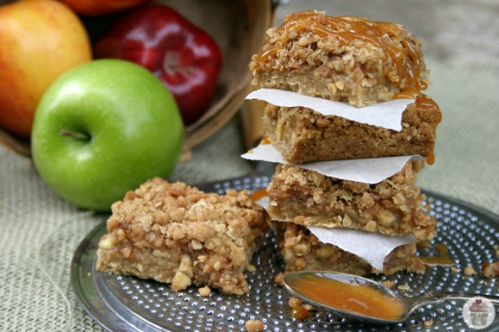 Caramel Apple Nut Bars :: Recipe on HoosierHomemade.com
