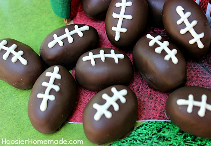 Football Oreo Truffles :: Recipe on HoosierHomemade.com