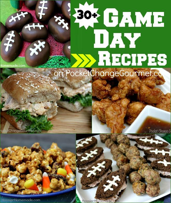 30+ Game Day Recipes on PocketChangeGourmet.com