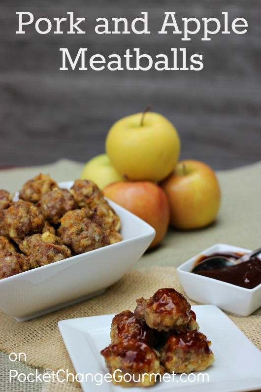 Pork and Apple Meatballs :: Recipe on PocketChangeGourmet.com
