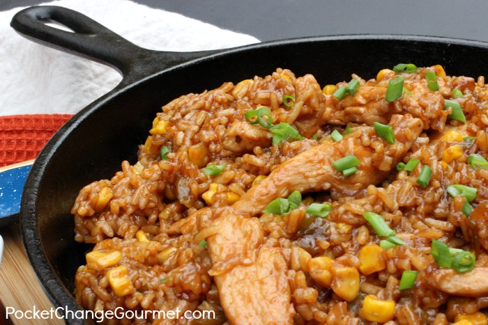 Barbecue Chicken And Rice One Dish Dinner Recipe On PocketChangeGourmet