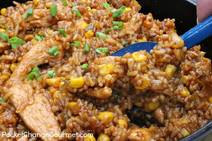 Barbecue Chicken and Rice: One Dish Dinner :: Recipe on PocketChangeGourmet.com