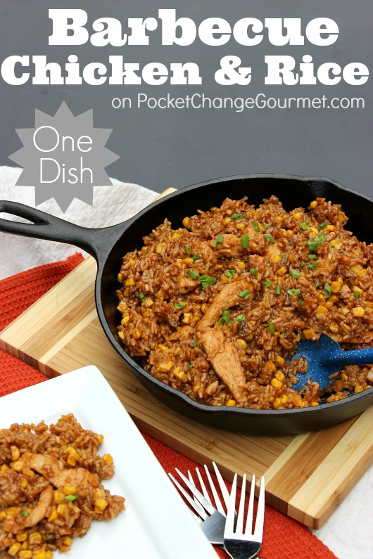 Barbecue Chicken And Rice One Dish Dinner Pocket Change Gourmet