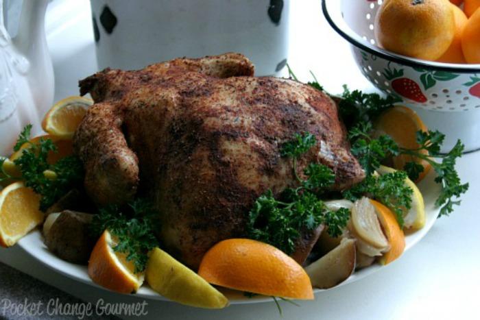 Slow Cooker Rotisserie Chicken :: Recipe on PocketChangeGourmet.com