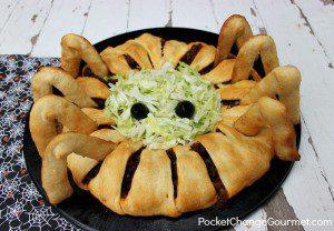 Fun Halloween Food Idea for Kids: Spider Taco Ring