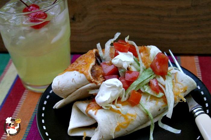Wet Bean Burritos :: Recipe on PocketChangeGourmet.com