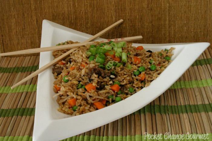 Pork Fried Rice: Recipe on PocketChangeGourmet.com
