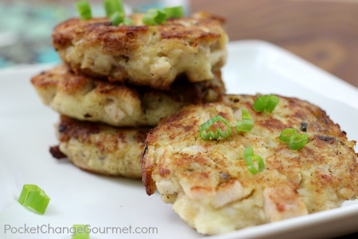 Mashed Potato & Stuffing Patties | Thanksgiving Leftovers | Recipe on PocketChangeGourmet.com