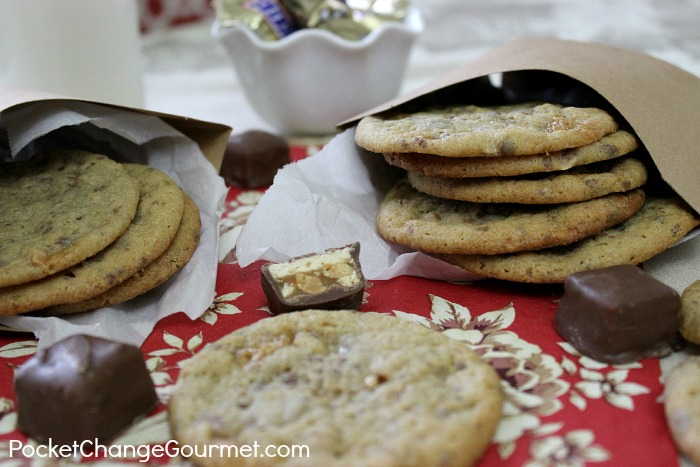 Peanut Butter Snickers Cookies | Recipe on PocketChangeGourmet.com