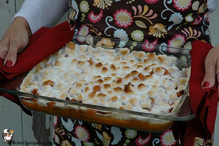 Sweet Potato Casserole |  Recipe on PocketChangeGourmet.com