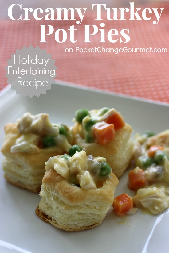 Creamy Turkey Pot Pies | Perfect for Holiday Entertaining | Recipe on PocketChangeGourmet.com