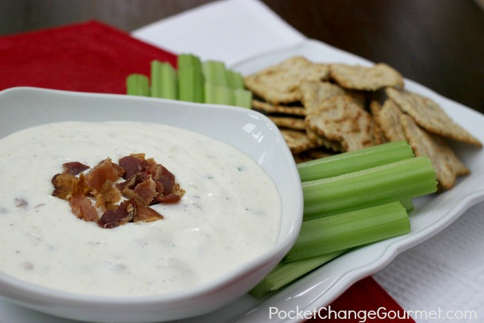 Bacon Ranch Dip | Recipe on PocketChangeGourmet.com