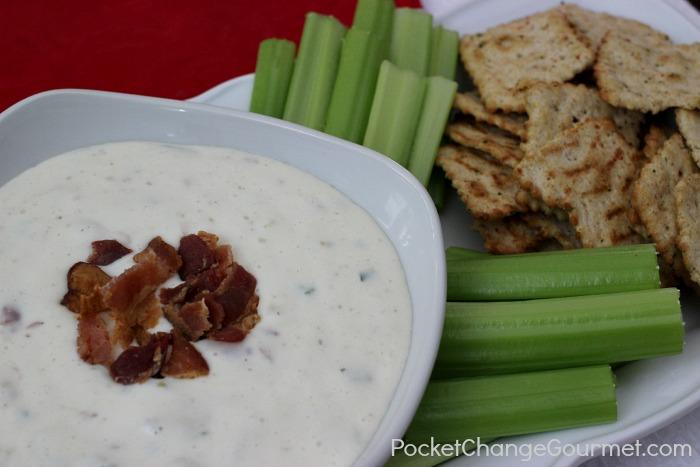 Bacon Ranch Dip   Recipe on PocketChangeGourmet.com