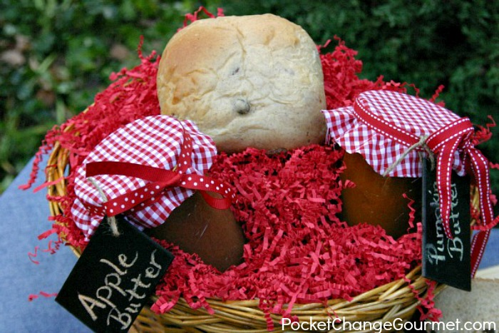 Cinnamon Raisin Bread, Apple & Pumpkin Butters : Gifts from the Kitchen : Recipes on PocketChangeGourmet.com