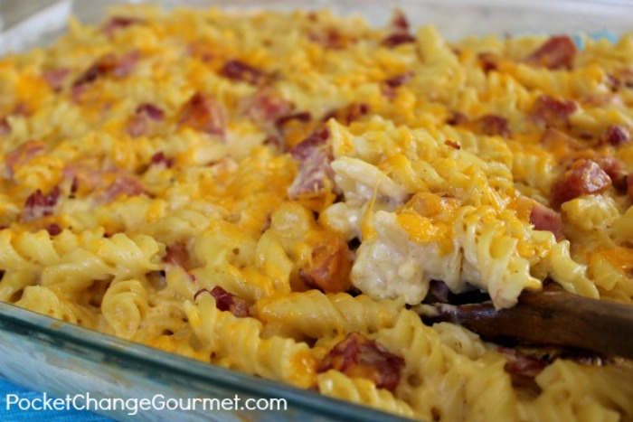 Easy cheesy pasta and ham recipe pocket change gourmet forumfinder Gallery