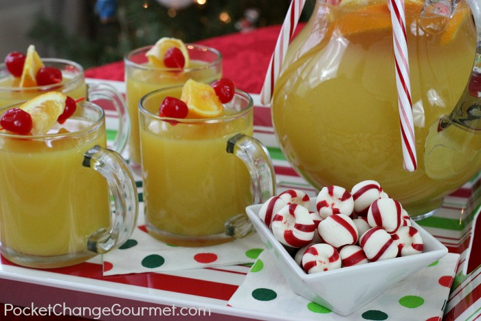 Holiday Surprise Punch: Recipe on PocketChangeGourmet.com