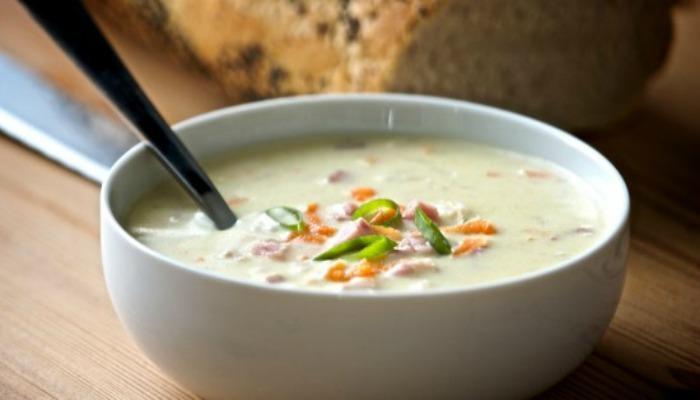 Creamy Rice and Ham Soup
