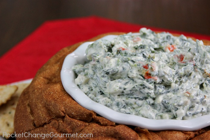 Classic Spinach Dip | Recipe on PocketChangeGourmet.com
