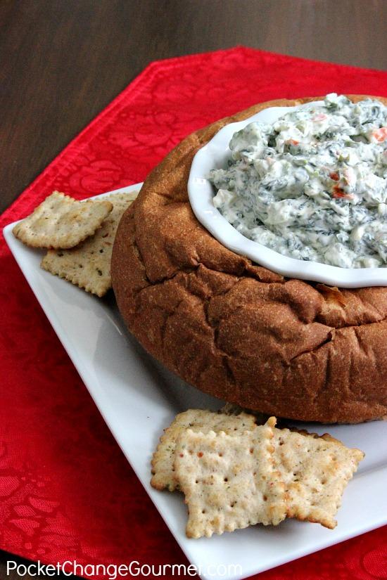 Classic Spinach Dip | Recipe on PocketChangeGourmet.com