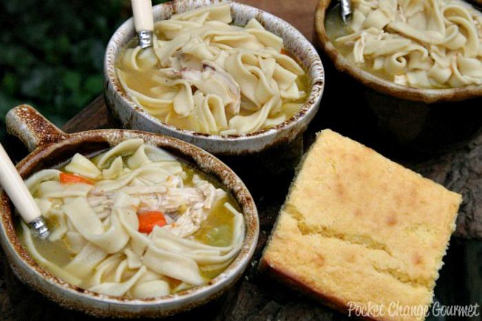 Homemade Chicken Noodle Soup | Recipe on PocketChangeGourmet.com