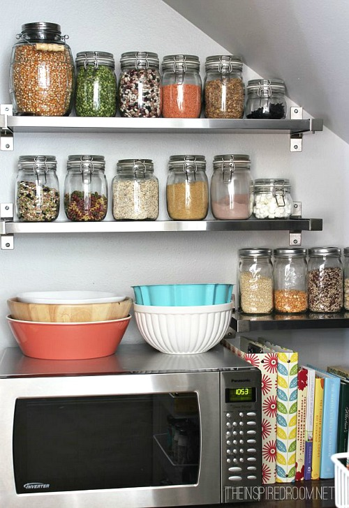 Organized Kitchen Pantry - Inspired Room