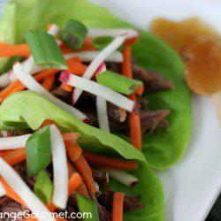 Shredded Beef Lettuce Wraps | Recipe on PocketChangeGourmet.com