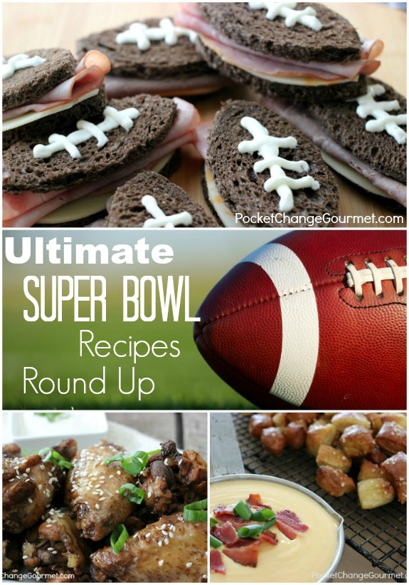 "The ULTIMATE Super Bowl Recipes Round up! Perfect for the ""Big Game"", Tailgating, or even a Football Birthday Party! Pin to your Recipe Board!"