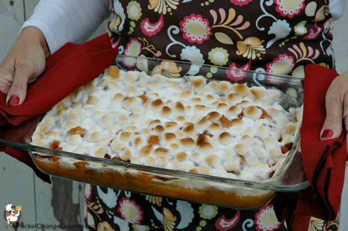 Candied Sweet Potato Casserole with Marshmallows : Recipe on PocketChangeGourmet.com