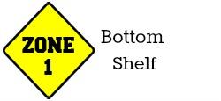 Zone 1 - Bottom Shelf